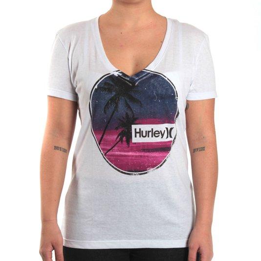 Camiseta Hurley Basica Eclipse Branco