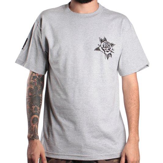 Camiseta Rock City Marchioro Flor Imp. Mescla