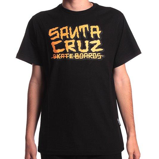 Camiseta Santa Cruz Juvenil Letters Preto