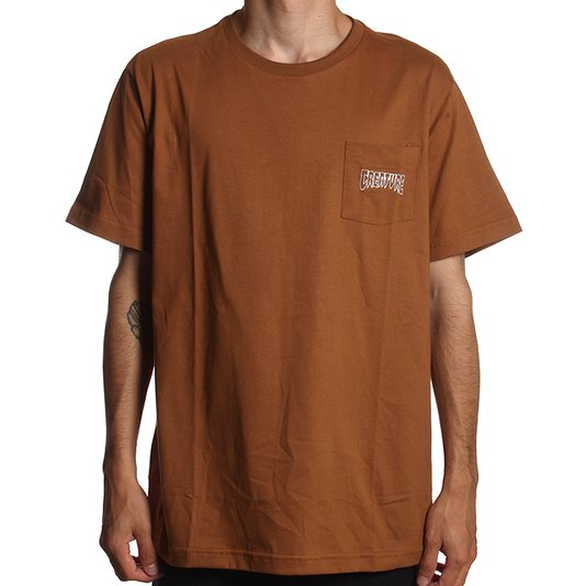 Camiseta Creature Logo Pocket Bordado Khaki
