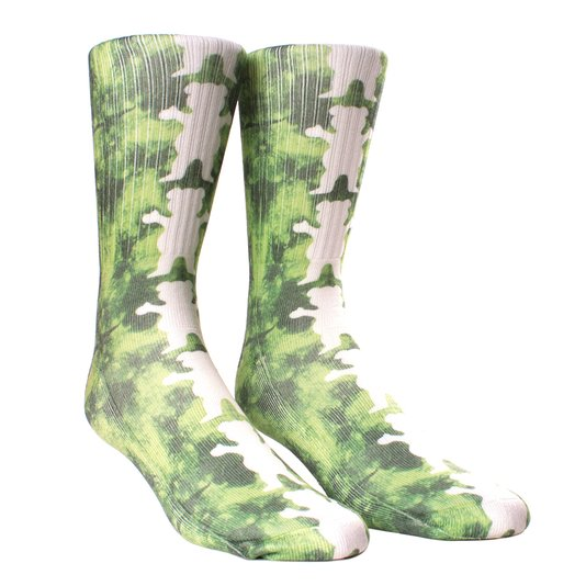 Meia Grizzly Repeat Tie Dye Verde