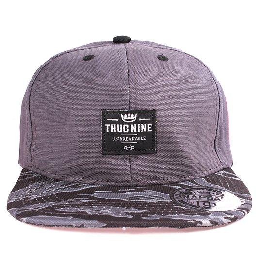 Boné Thug Nine Thug Tag Cinza Camo