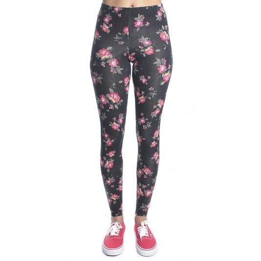 Calça Vans Legging Yoshimi Roses Preto
