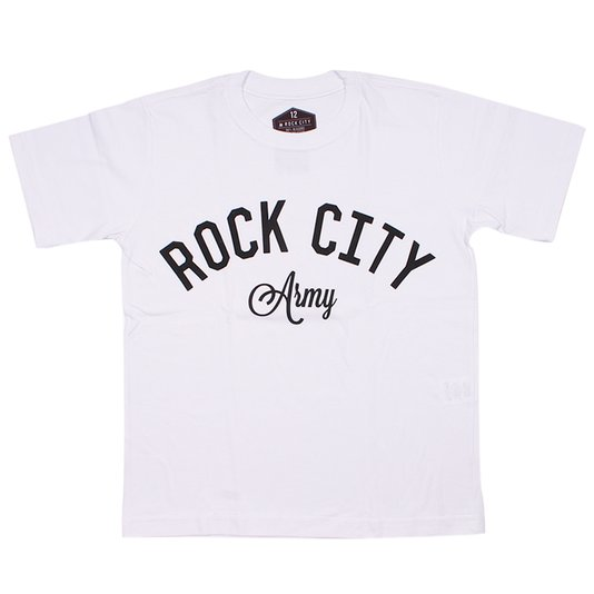 Camiseta Rock City Army Infantil Branco