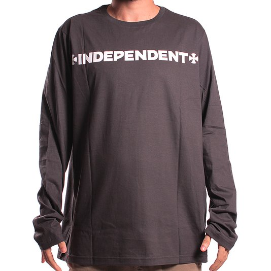 Camiseta Independent M/L ITC Cross Chumbo