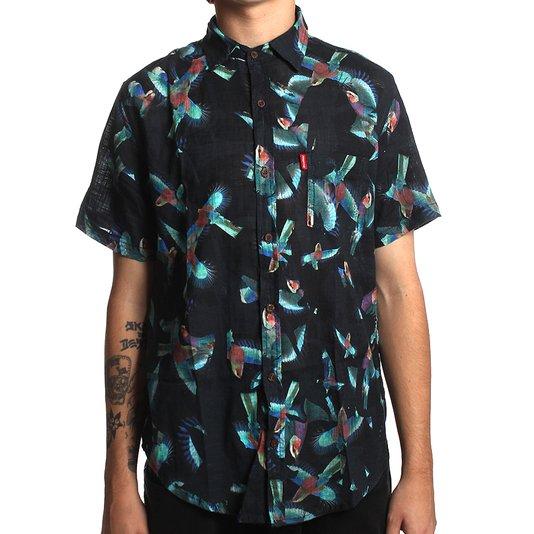 Camisa Redley Blue Birds Preto