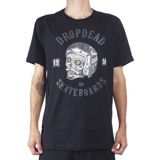 Camiseta Drop Dead Skull Sketchy Preto