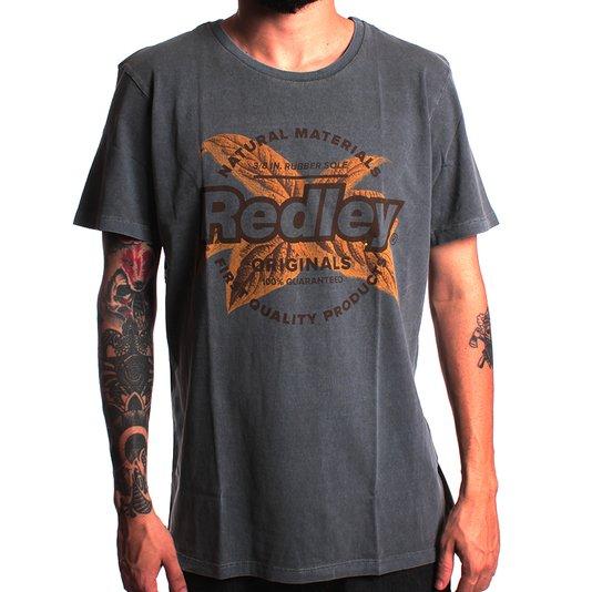 Camiseta Redley Tinturada Silk Platae Preto Estonado
