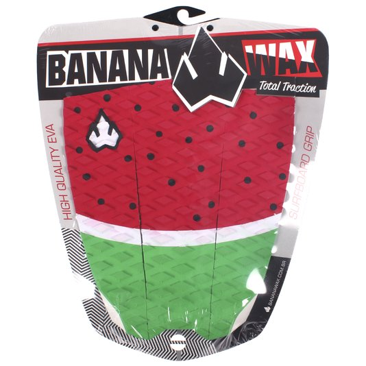 Deck Banana Wax Listra Vermelho/Verde/Branco