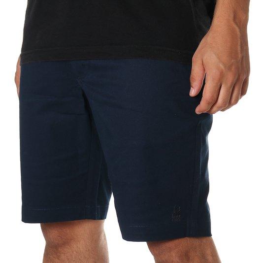 Bermuda Rock City Sarja Tailor Azul Marinho