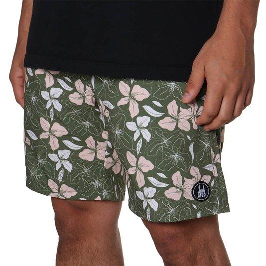 Bermuda Rock City Shorts Floral Summer 21 Verde/Bege