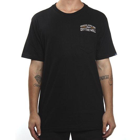 Camiseta Vans Since 66 Pocket Preto