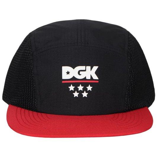 Boné Dgk Court Camper Hat Preto/Vermelho/Branco