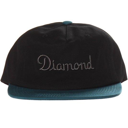 Boné Diamond Champagne Preto/Azul Marinho