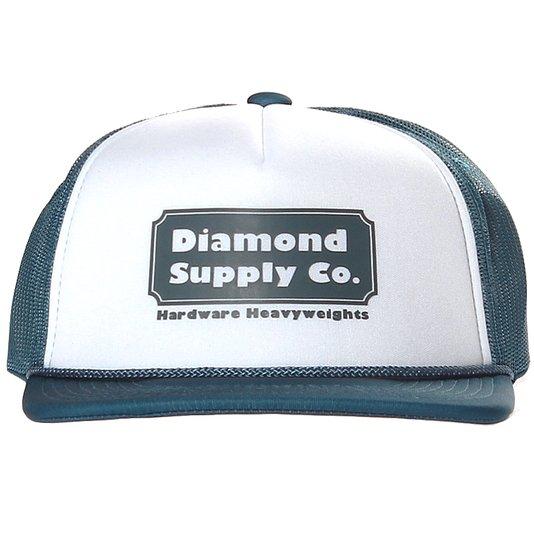 Boné Diamond Hardware Trucker Branco/Azul