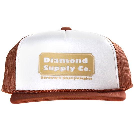 Boné Diamond Hardware Trucker Branco/Khaki