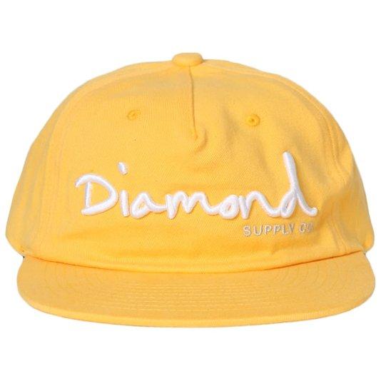 Boné Diamond Og Script Unstruct Snapback Amarelo