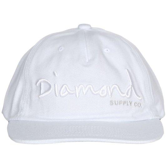 Boné Diamond Og Script Unstruct Snapback Branco
