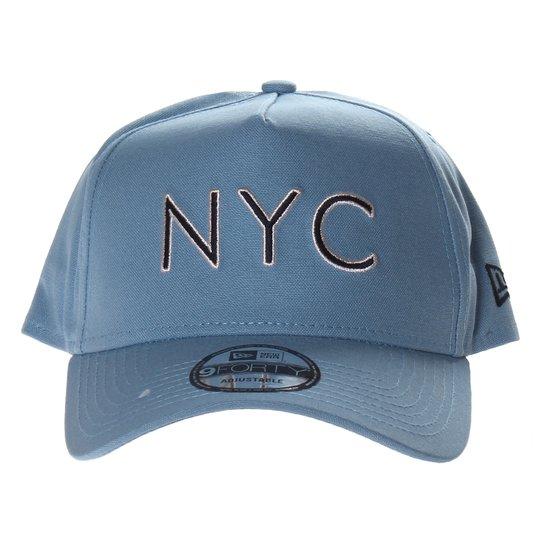 Boné New Era New York City Veranito Aba Curva Azul