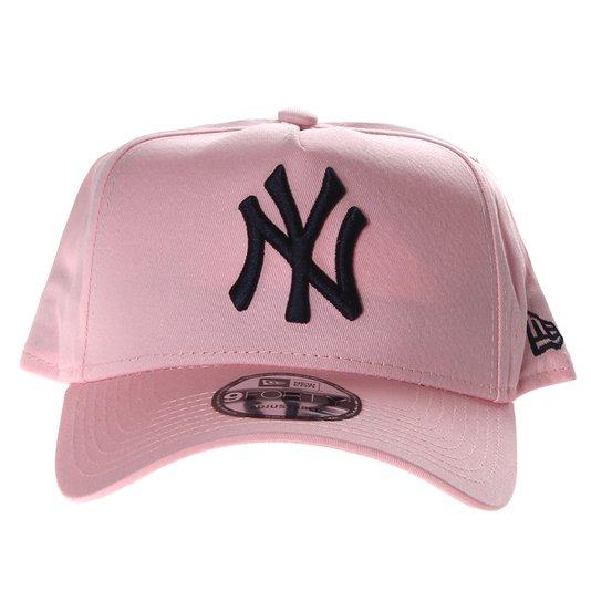 Boné New Era New York City Veranito Aba Curva Rosa
