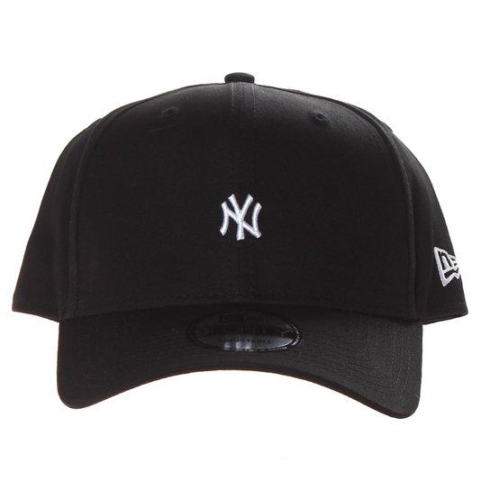 Boné New Era New York Mini Logo Aba Curva Preto