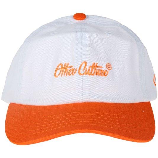 Boné Other Culture Aba Curva Brand Branco/Laranja