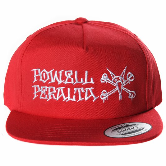 Boné Powell Peralta Rat Bones Snapback Vermelho