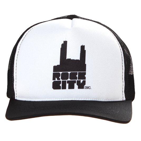 Boné Rock City Logo Tradicional 2 Preto/Branco