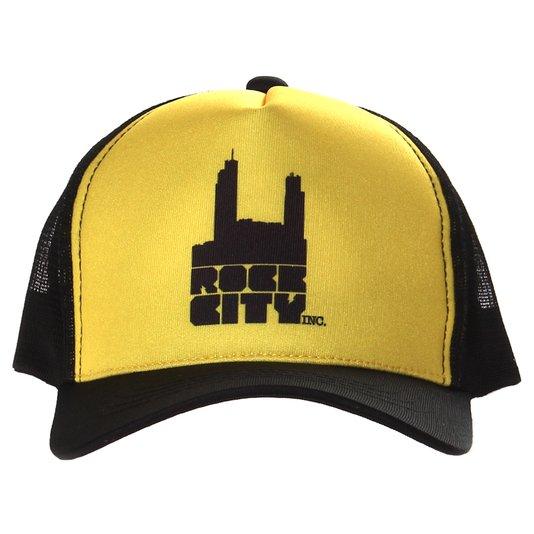 Boné Rock City Logo Tradicional Amarelo/Preto