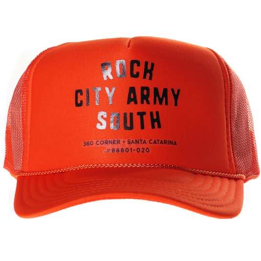 Boné Rock City Otto Caps Army South Laranja