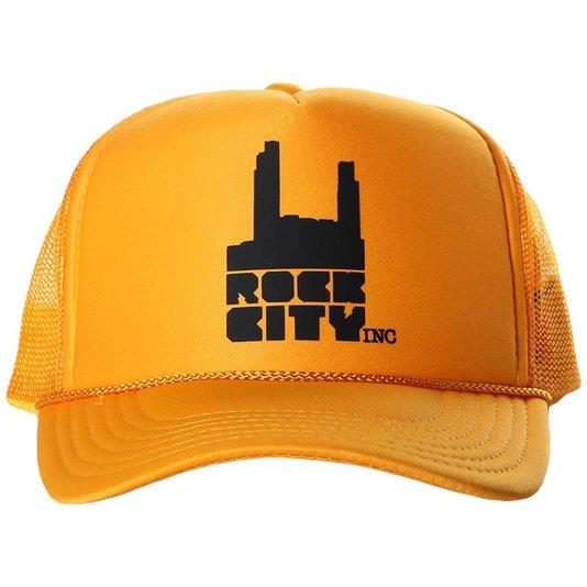 Boné Rock City Otto Caps Truck Logo Amarelo