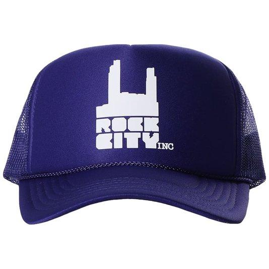 Boné Rock City Otto Caps Truck Logo Azul Marinho