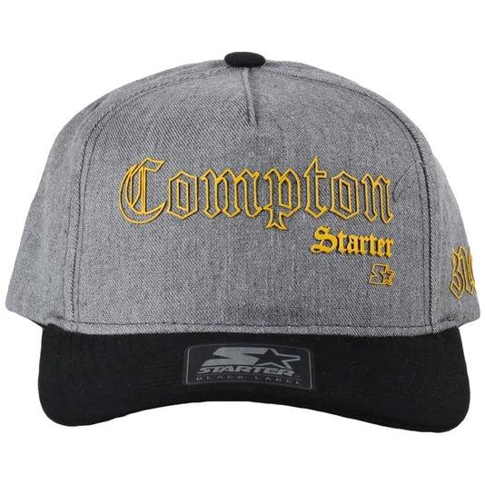 Boné Starter Aba Curva Compton Jeans/Preto