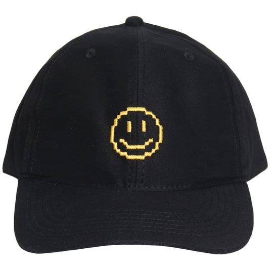 Bone Straye Fake Smile Dad Hat Preto