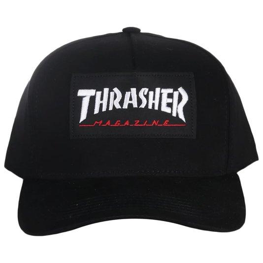 Boné Thrasher Magazine Logo Patch Preto