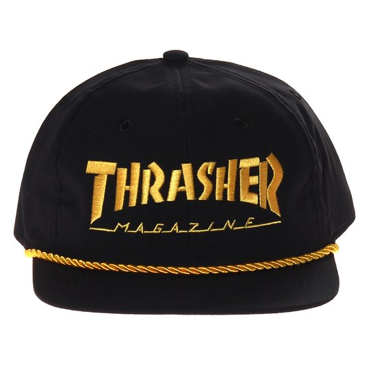Boné Thrasher Magazine Logo Rope Preto