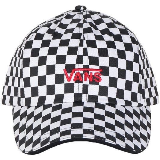 Bone Vans High Standard Checkerboard Preto/Branco