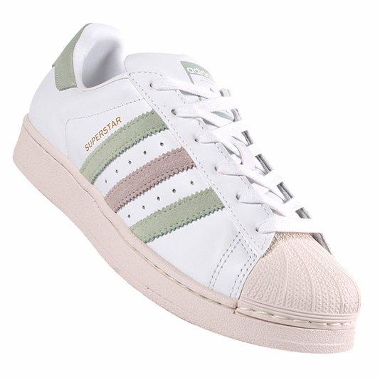 Tenis Adidas Superstar Branco/Bege