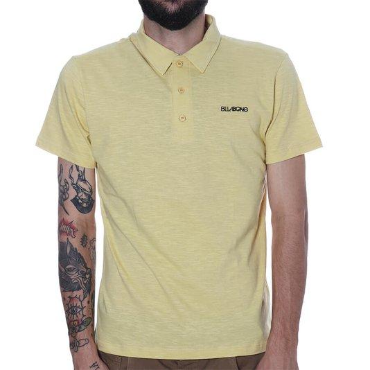Camisa Gola Polo Billabong Seenu Amarelo