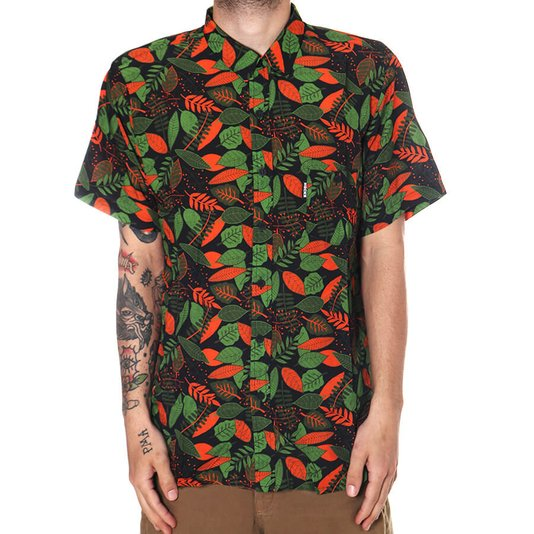 Camisa Hocks Folharada Verde
