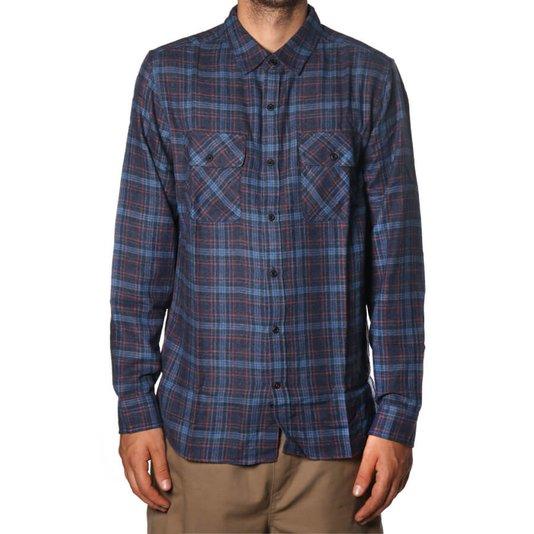 Camisa Hurley Flanela Walker Azul Marinho
