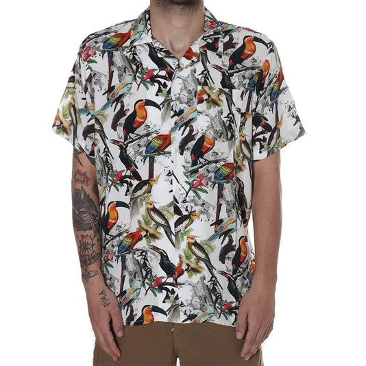 Camisa Lrg Flock Aves Branco