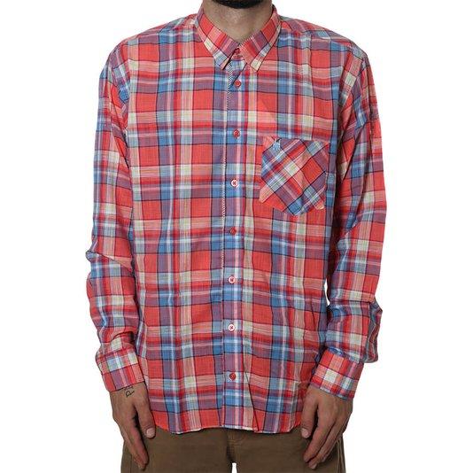 Camisa Rock City Xadrez Vermelho/Azul