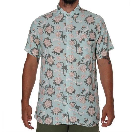 Camisa Santa Cruz Floral Decay Verde Claro