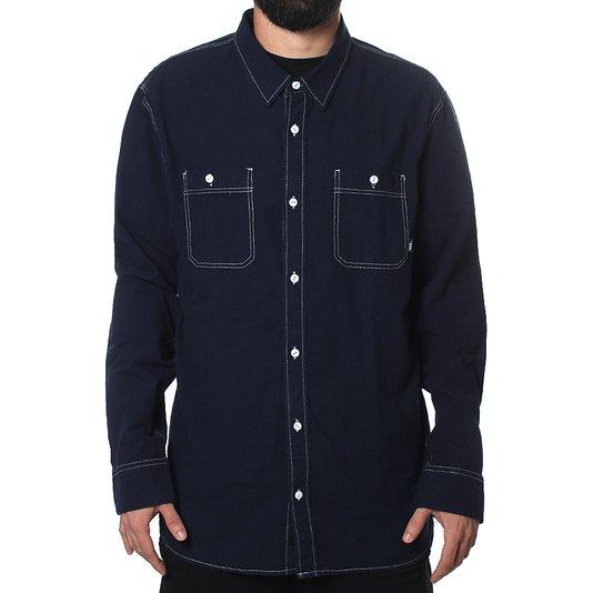Camisa Vans Carlow Chambray Manga Longa Azul