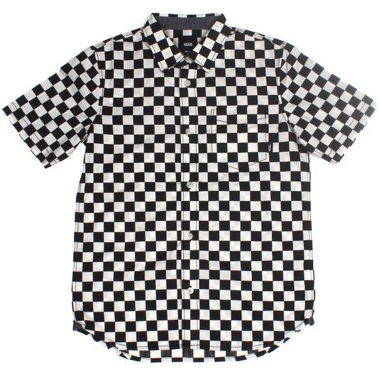 Camisa Vans Juvenil Checkerboard Preto/Branco