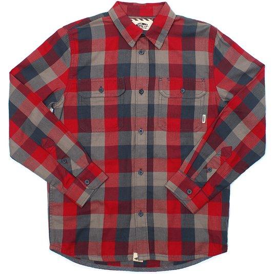 Camisa Vans M Alameda Boys Vermelho