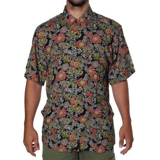 Camisa Vissla Muy Muy Bueno Preto/Floral