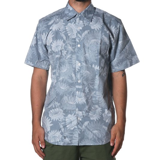 Camisa Vissla Padang Azul Claro