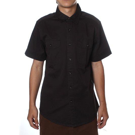 Camisa Vissla Woven Aliso M/C Preto